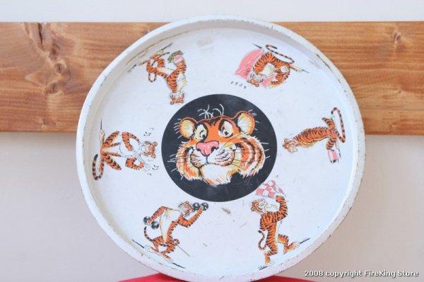画像1: Fire-King ESSO Tiger トレー (1)