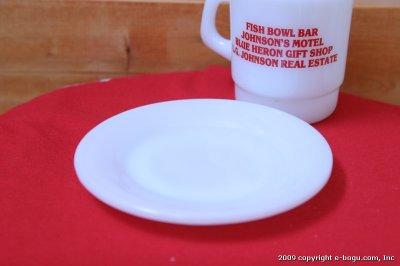 画像1: Fire-King restaurant ware ブレッド&バタープレート(ホワイト)