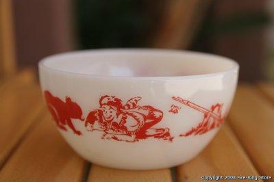 画像2: Fire-King Davy Crockettチリボール(RED)