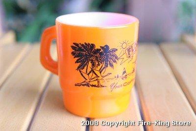 画像2: Fire-King スタッキングマグ FLORIDA(オレンジ)