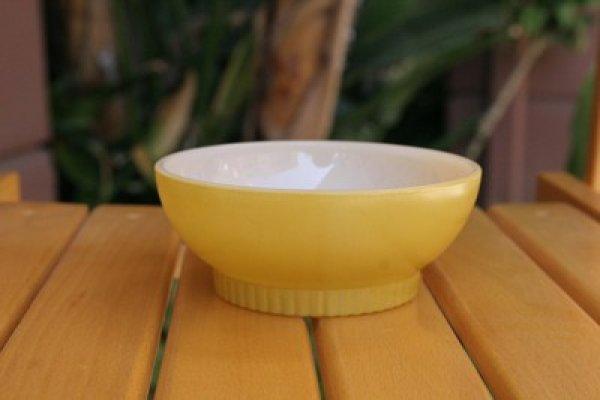 画像1: Fire-King チリボール(Yellow Ribbed Bottom) (1)