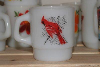 画像1: Fire-King スタッキングマグバード(Chickadee/Cardinal)