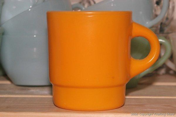 画像1: Fire-King スタッキングカラーマグ(Orange) (1)