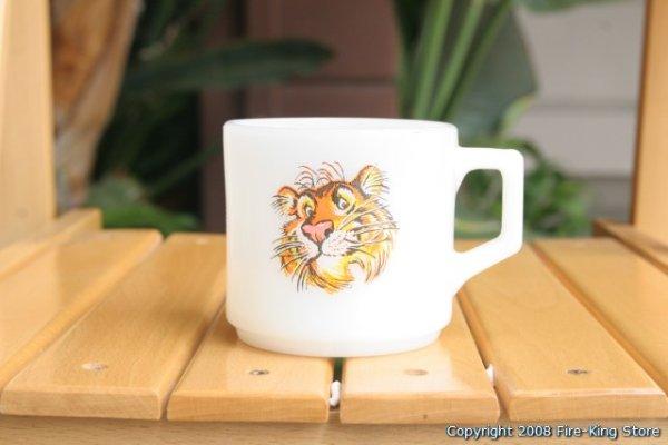 画像1: Fire-King プリントマグESSO Tiger Mug (Short) (1)