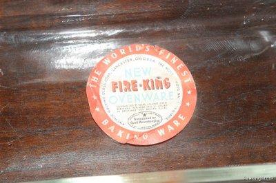 画像2: Fire-King ミントの透明オーブンウェア(オリジナルシール付き)長方形